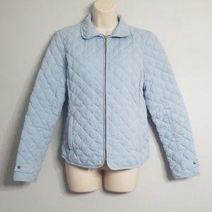 Eddie Bauer light blue quilted down jacket